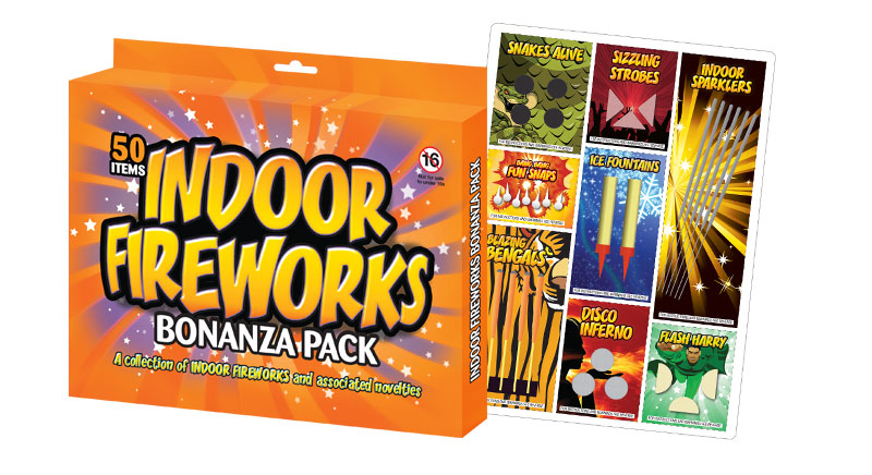 Our flagship retro indoor fireworks pack