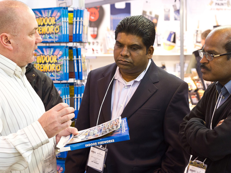 Warren Thomas explaining our product range to customers